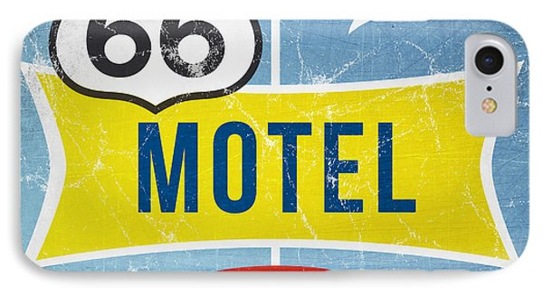 Route 66 Motel IPhone Case by Linda Woods