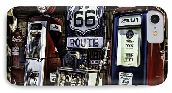 IPhone Case featuring the painting Route 66 by Muhie Kanawati
