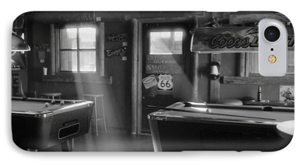 IPhone Case featuring the photograph Route 66 Pool Hall by Luis Esteves
