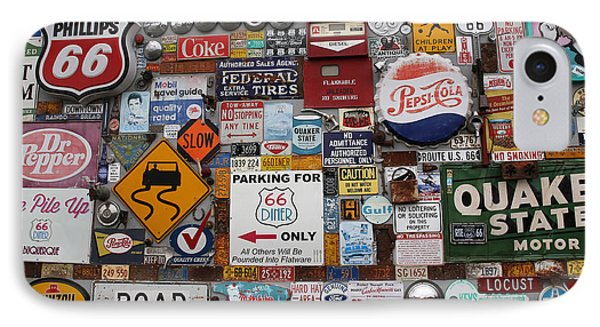 Route 66 Signs IPhone Case by Lynn Sprowl