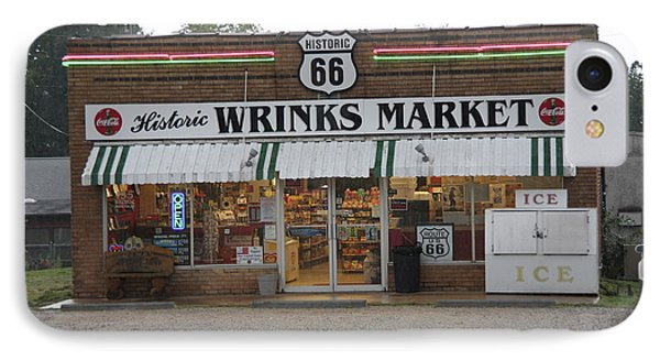 Route 66 - Wrink's Market Phone Case by Frank Romeo