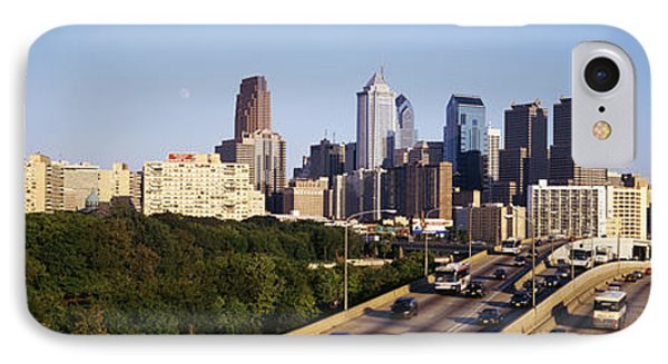 Route 76 Skyline Philadelphia Pa Usa IPhone Case by Panoramic Images