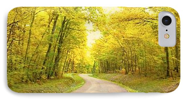 IPhone Case featuring the photograph Route Dans La Foret Jaune by Marc Philippe Joly