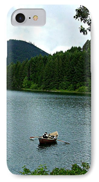 IPhone Case featuring the photograph Row Boat At Dorena Lake  by Mindy Bench