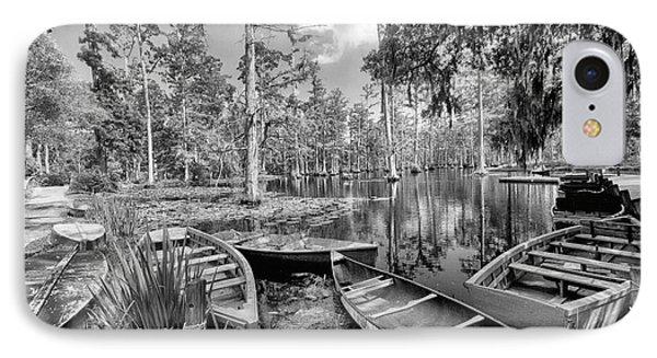 Row Boats In Cypress Tree Swamp IIi Phone Case by Dan Carmichael