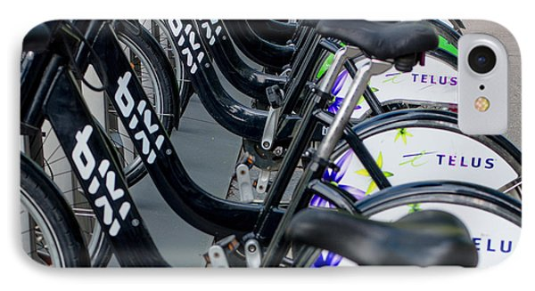 Row Of Bikes IPhone Case