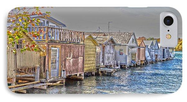 Row Of Boathouses IPhone Case