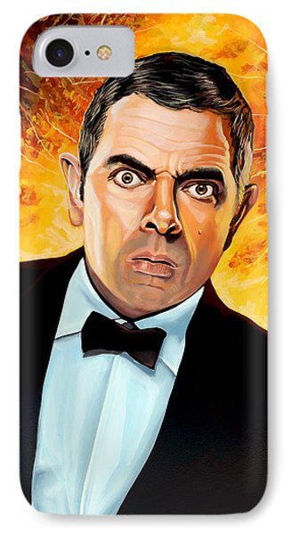 Rowan Atkinson Alias Johnny English IPhone Case by Paul Meijering