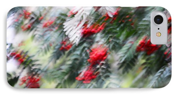 Rowan Tree Under The Silver Rain. Impressionism IPhone Case
