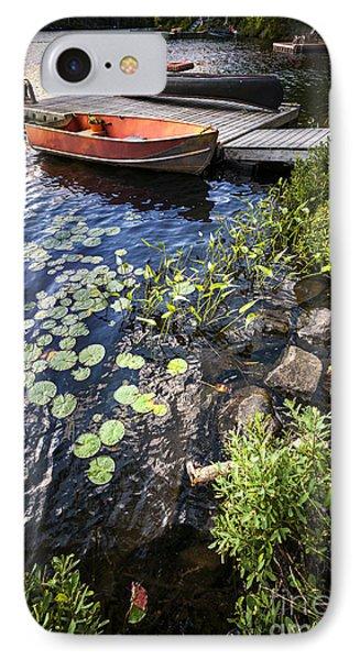 Rowboat At Lake Shore IPhone Case