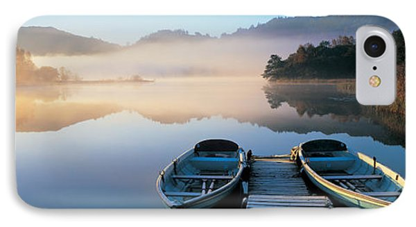 Rowboats At The Lakeside, English Lake IPhone Case by Panoramic Images