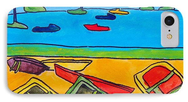 Rowboats IPhone Case by Artists With Autism Inc