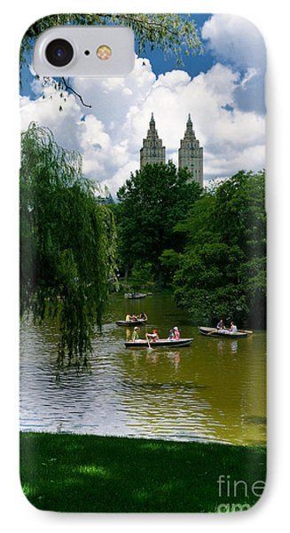 Rowboats Central Park New York Phone Case by Amy Cicconi