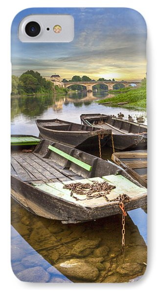 Rowboats On The French Canals Phone Case by Debra and Dave Vanderlaan