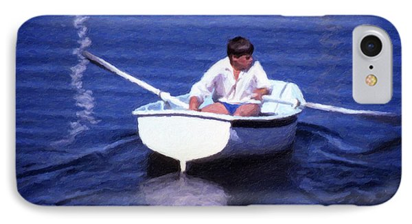 IPhone Case featuring the digital art Rower by Richard Farrington