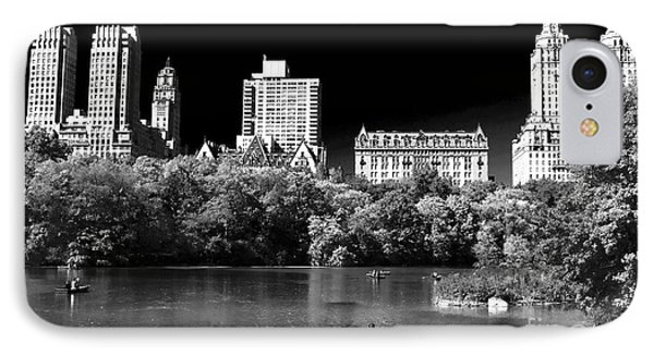 Rowing In Central Park Phone Case by John Rizzuto