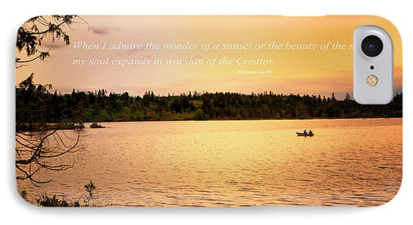 Rowing Into The Sunset IPhone Case by Kelly Reber