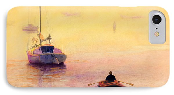 Rowing Out IPhone Case by Cindy McIntyre