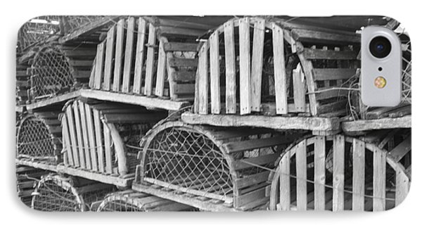 Rows Of Old And Abandoned Lobster Traps Phone Case by John Telfer