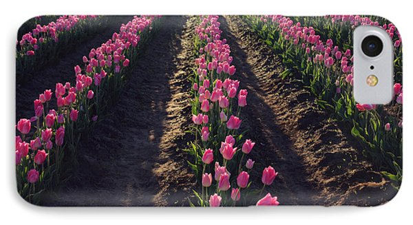 IPhone Case featuring the photograph Rows Of Pink by Sylvia Cook