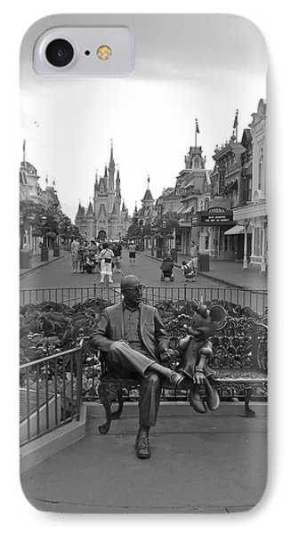 Roy And Minnie Mouse Black And White Magic Kingdom Walt Disney World Phone Case by Thomas Woolworth