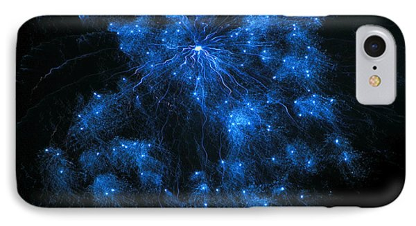 Royal Blue Fireworks IPhone Case