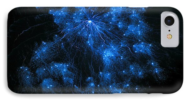 Royal Blue Fireworks IPhone Case by Joseph Baril