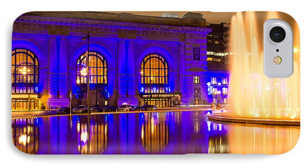 Royal Blue Reflections Union Station IPhone Case