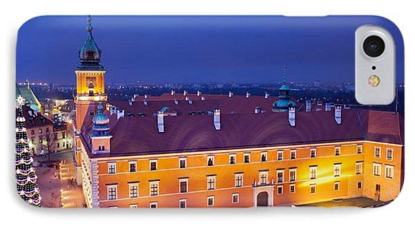 Royal Castle In Warsaw At Night Phone Case by Artur Bogacki