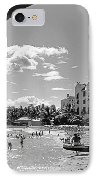 Royal Hawaiian Hotel IPhone Case by Underwood Archives