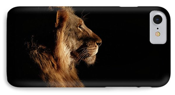 Lion iPhone 7 Case - Royal Meeting In The Night by Andreas Hemb
