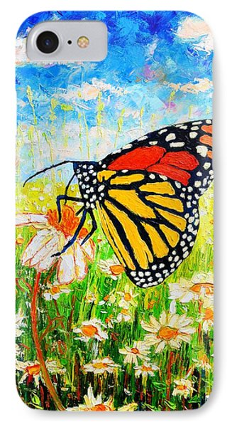 Royal Monarch Butterfly In Daisies Phone Case by Ana Maria Edulescu