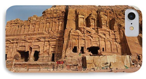 Royal Tombs At Ancient Nabatean City IPhone Case