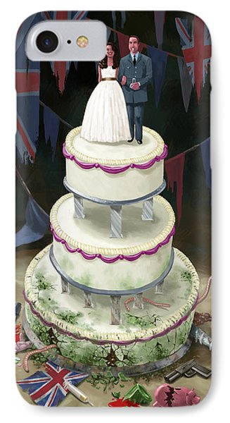 Royal Wedding 2011 Cake IPhone Case by Martin Davey