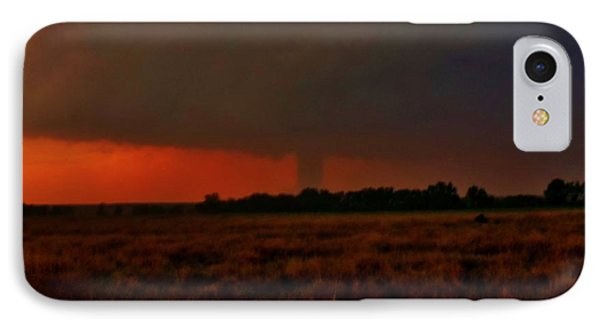 IPhone Case featuring the photograph Rozel Tornado On The Horizon by Ed Sweeney