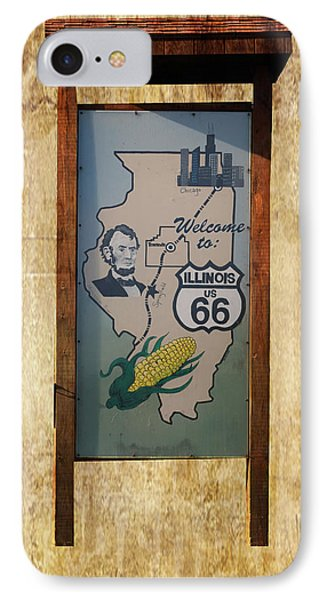 Rt 66 Towanda Il Welcome Signage Phone Case by Thomas Woolworth