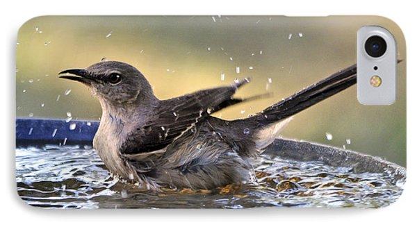 IPhone Case featuring the photograph Rub-a-dub-dub Mockingbird by Nava Thompson