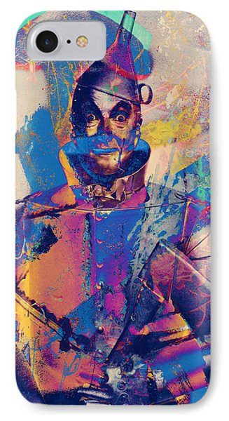Rubber Tin Man  IPhone Case by Jerry Cordeiro