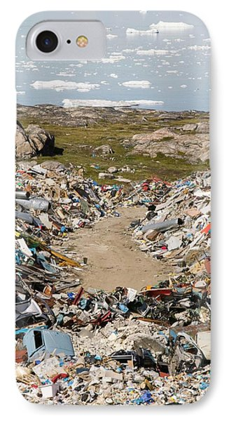 Rubbish Dumped On The Tundra IPhone Case by Ashley Cooper
