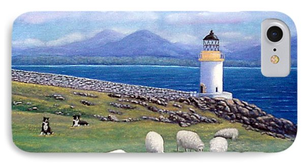 Rubh An Duin Lighthouse Scotland IPhone Case by Fran Brooks