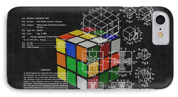 Rubik's Cube Patent 3 IPhone Case by Andrew Fare