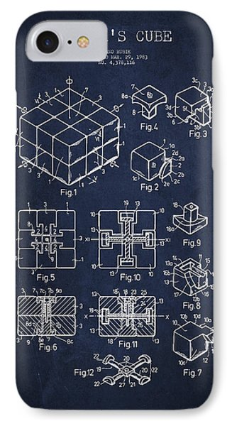 Rubiks Cube Patent IPhone Case by Aged Pixel
