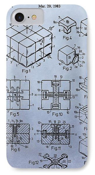 Rubik's Cube Patent IPhone Case by Dan Sproul