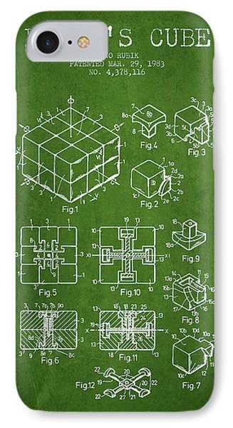 Rubiks Cube Patent From 1983 IPhone Case by Aged Pixel
