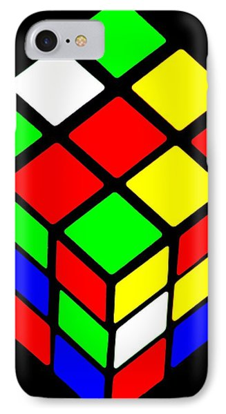 Rubik's Phone IPhone Case by Benjamin Yeager
