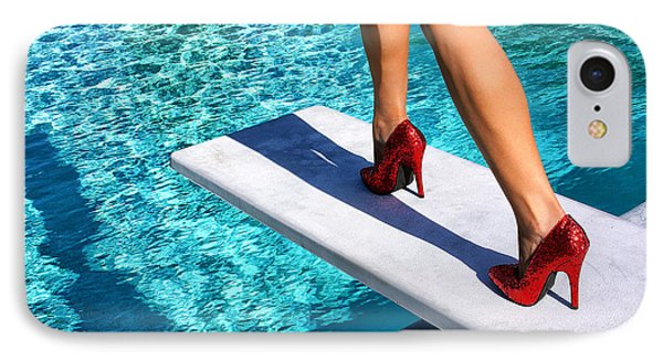 Ruby Heels Ready For Take-off Palm Springs IPhone Case by William Dey
