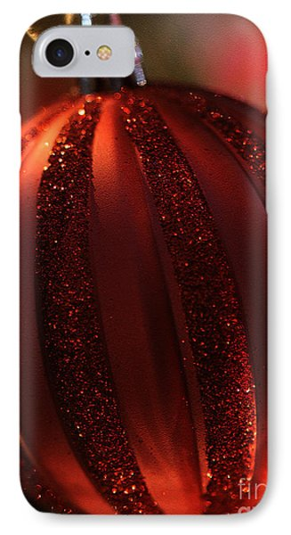 IPhone Case featuring the photograph Ruby Red Christmas by Linda Shafer