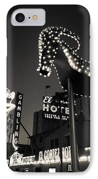 Ruby Slipper Neon Sign Lit Up At Dusk IPhone Case