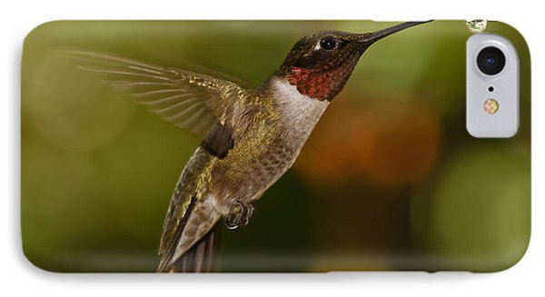IPhone Case featuring the photograph Ruby-throat Hummingbird by Robert L Jackson