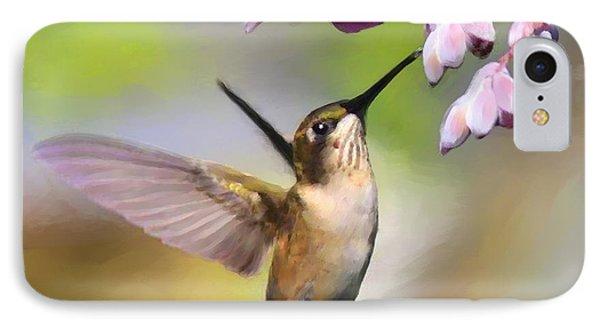 Ruby-throated Hummingbird - Digital Art IPhone Case